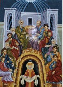 L'unité dans le respect de la diversité est l'œuvre de l'Esprit saint. Icône de la Pentecôte offerte par l'Église orthodoxe de Corée