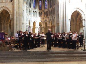 Cathédrale de Lausanne, 6 avril 2014. Un chœur interconfessionnel a animé la célébration