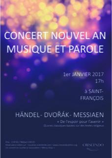 Nouvel An Musique et Parole - flyer a6